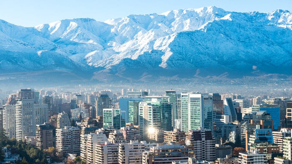 Santiago City - view with mountains
