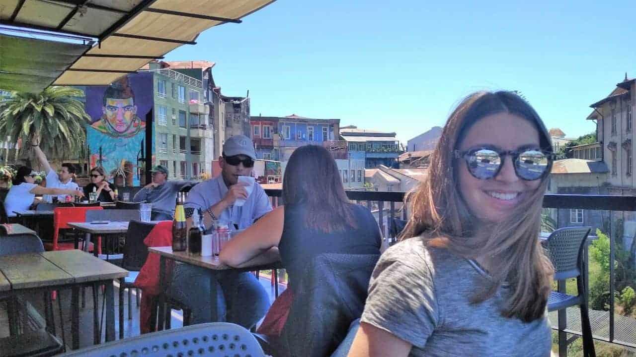 Valparaiso Chile - Terrace